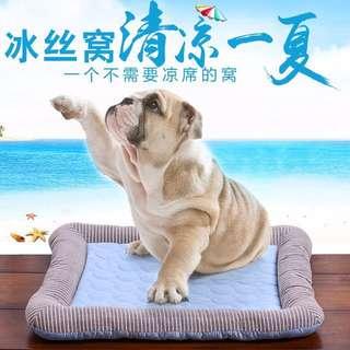 狗墊子 狗窩 貓墊 降溫冰絲涼席 睡墊 大小型犬 寵物冰墊