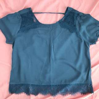 Forever 21 Blue Green Top