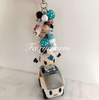 Moffia sushi car beads fob
