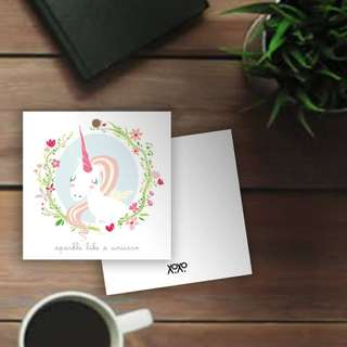 Unicorn Present Wrapping Gift handtag