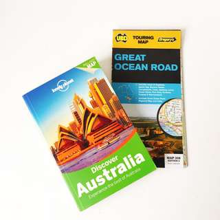Lonely Planet Discover Australia Travel Guide and Free Great Ocean Road Roadtrip Map