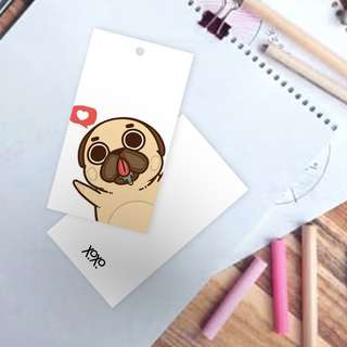Facebook like dog hand tag for gift wrapping - pets lovers