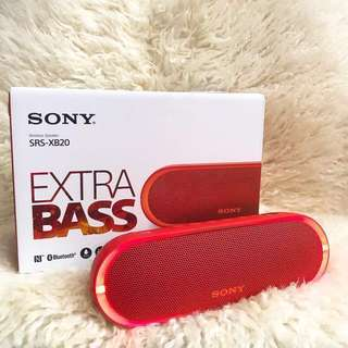 New  Sony Wireless Speaker Extra Bass SRS-XB 20