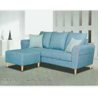 L Shape Sofa fabric, colour can choose,