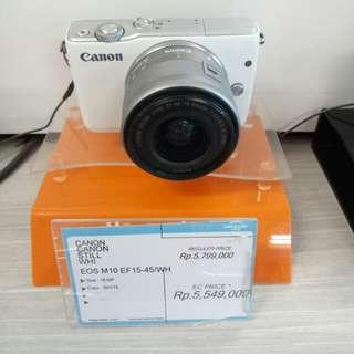 Canon M10 bisa dicicil tanpa DP dan tanpa kartu kredit juga