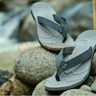 Sandal Gunung Suzuran Flip Flop Mr1 Grey w Dark Grey