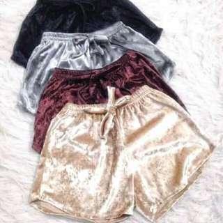 Velvet shorts