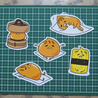Gudetama inspired Bao stickers