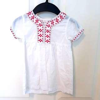 2T Lemmi White Cotton Dress