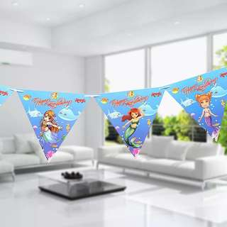 💕 Mermaids Party supplies - Birthday banners / party deco
