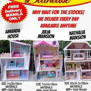 Branded Wooden Dollhouse