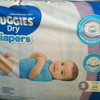 Huggies Dry pampers {SIZE S RESERVED}