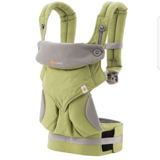 <CLEARANCE SALE> Ergobaby 360 Performance Carrier - Ergonomic Four Positions Organic Cotton Baby Wearing Carrier - Green