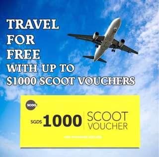 Get up to $1000 Scoot Vouchers