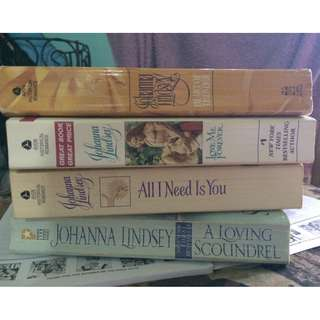 Johanna Lindsey books (9 currently in possession)