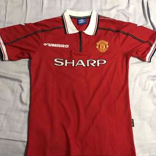Retro Manchester United 1998/99 home Jersey