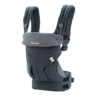 < CLEARANCE SALE> Ergobaby 360 Baby Carrier - Four Positions Organic Cotton Performance Ergonomic Baby Wearing Carrier - Dusty Blue