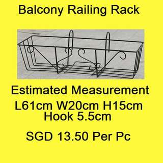 Balcony Railing Rack / Plant Pot Shelf