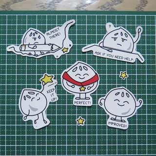 Encouragement stickers