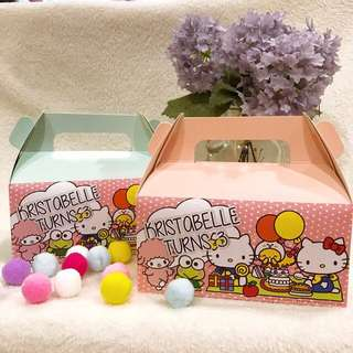 customize goodie bag / party bag / door gift / goodie box - hello kitty