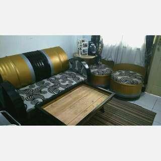 Meja kursi ruang tamu