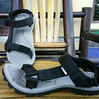 Sandal Gunung Suzuran Slop Mr1 Grey w Black