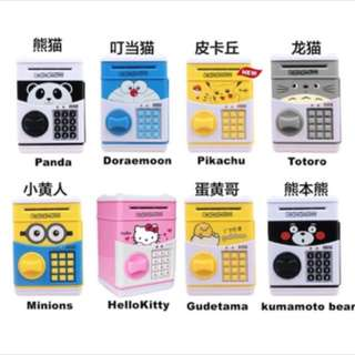 Cartoon Atm bank money saving box