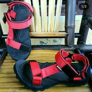 Sandal Gunung Suzuran Slop Mr1 Black w Red