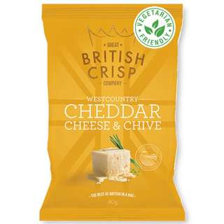 Great British Crisp Co. - Cheddar Cheese & Chive Potato Chips (10x150g)