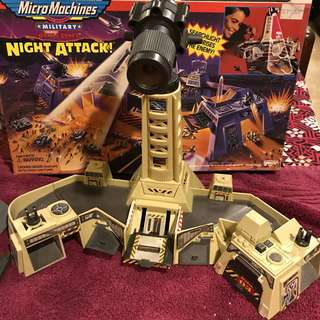 Battlezones Night Attack Micro Machines Vintage early 1990s Galoob BZ6