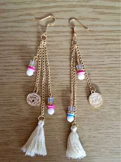 BOHO TASSEL EARRINGS NEW CREAM