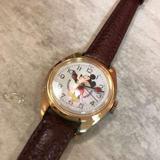 Mickey Mouse vintage mechanic watch 米奇老鼠 機械上鍊手錶