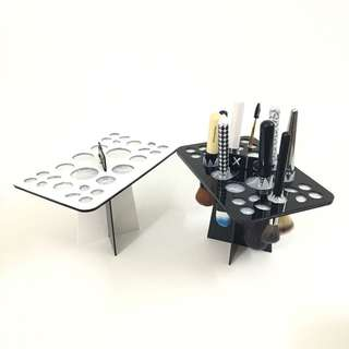 Mix Size Makeup Brush Holder Organizer Folding Collapsible Air Drying Tower