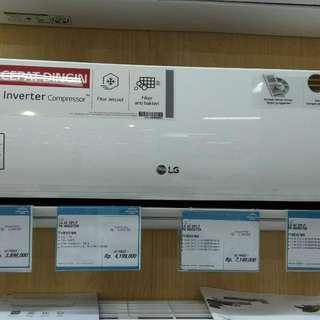 LG AC 1PK T10EV3/WH DP 0% + Free 1X Cicilan Cukup Admin 199.000