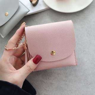 Mini Tassel Coin Purse (Pink)