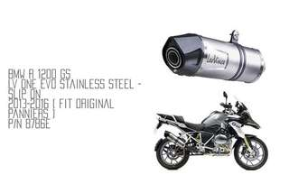 13-16 BMW R1200GS Leo Vince One Evo Exhaust LTA Approved