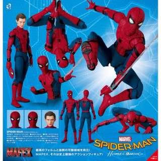 預訂 7月 日版 MEDICOM TOY MAFEX NO.047 MAFEX SPIDER-MAN HOMECOMING VER FROM 蜘蛛俠 SPIDER-MAN: HOMECOMING