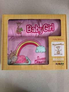 BNIB Baby Girl Pillow & Bolster Set