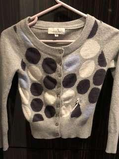 Cardigan jacket womens wool XS