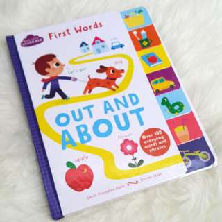 Baby book - first words - out and about