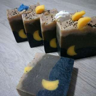 Moringa and charcoal soap