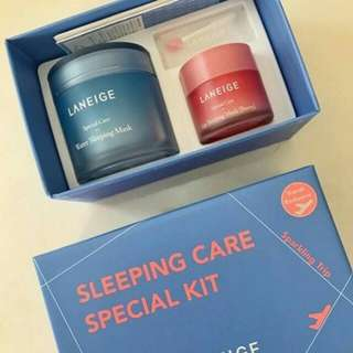 Laneige sleeping mask and laneige lip mask