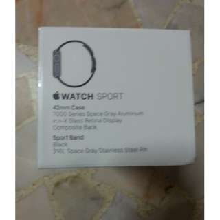 Brand New Apple Watch Sport 1st Generation (42mm Space Grey Aluminium Case with Black Sport Band)