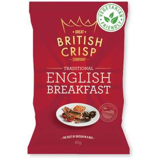 Great British Crisp Co. - English Breakfast Potato Chips (10x150g)