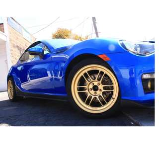 17 inch SPORT RIM ENKEI REPLICA F1 RPF1 GOLD RACING WHEELS