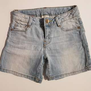 Zara girls denim shorts kids