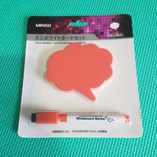 Bn Miniso whiteboard magnet and marker set