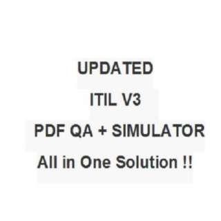 ITIL V3 Foundation Test EXAM QA PDF&Simulator