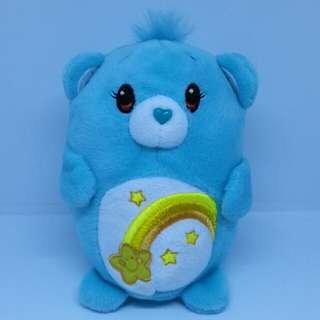 "Brand New 4"" Chums Carebears Care Bears Wish Figurine Shooting Star Female Bear Plush Stuffed Soft Toy Beanbag (Turquoise)"