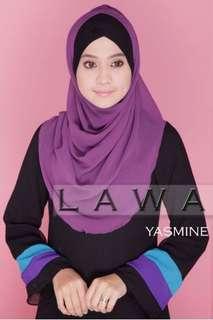 Tudung Instant Rana Syria Chiffon Crepe Eksklusif Purple Dua